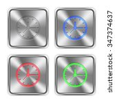 color clock icons engraved in...