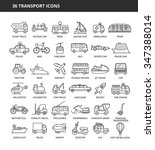 Set Of 36 Transport Icons