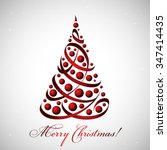 merry christmas card with... | Shutterstock .eps vector #347414435
