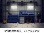 Garage Workshop With Tools  ...