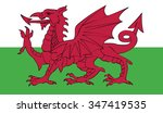 flag of wales | Shutterstock .eps vector #347419535