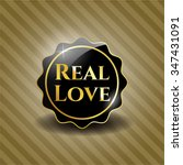 real love dark badge   Shutterstock .eps vector #347431091