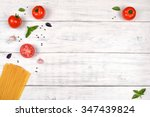italian pasta ingredients on... | Shutterstock . vector #347439824