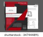 vector business flyer or... | Shutterstock .eps vector #347444891
