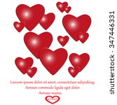 hearts vector illustration | Shutterstock .eps vector #347446331