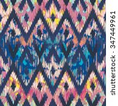 seamless faux textile reworked... | Shutterstock .eps vector #347449961