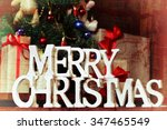 presents under the tree... | Shutterstock . vector #347465549