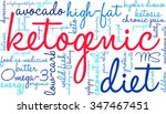 ketogenic word cloud on a white ... | Shutterstock .eps vector #347467451