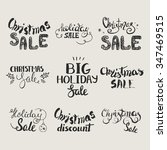 vector set of hand lettering... | Shutterstock .eps vector #347469515