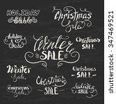 vector set of hand lettering... | Shutterstock .eps vector #347469521