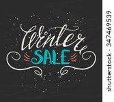 winter sale   hand drawn banner.... | Shutterstock .eps vector #347469539