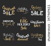 vector set of hand lettering... | Shutterstock .eps vector #347469611