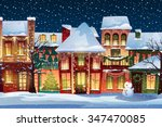winter landscape.christmas... | Shutterstock .eps vector #347470085