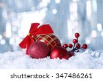 beautiful christmas composition ... | Shutterstock . vector #347486261