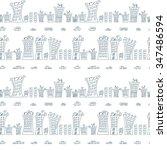 vector seamless pattern.... | Shutterstock .eps vector #347486594