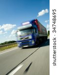 truck moving with high speed | Shutterstock . vector #34748695