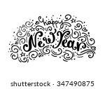 new year handdrawn lettering.   Shutterstock .eps vector #347490875