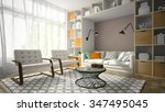 interior of modern design room... | Shutterstock . vector #347495045