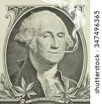 george washington smoking a... | Shutterstock . vector #347496365
