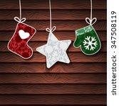 christmas background. vector... | Shutterstock .eps vector #347508119