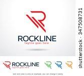 rockline letter r logo template ... | Shutterstock .eps vector #347508731