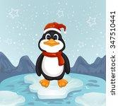 a cute little christmas ... | Shutterstock .eps vector #347510441
