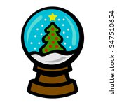 snow globe christmas tree | Shutterstock .eps vector #347510654