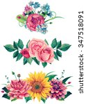Watercolor Bouquet Clipart ....