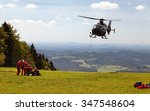 Group Of Rescuers Practice Of...