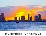 skyline of miami florida ...   Shutterstock . vector #347554325