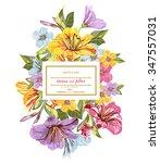 wedding template flower...   Shutterstock .eps vector #347557031
