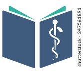 drug handbook glyph icon. style ... | Shutterstock . vector #347561891