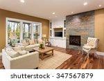 beautiful living room interior... | Shutterstock . vector #347567879