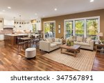 beautiful living room interior... | Shutterstock . vector #347567891