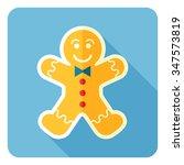 gingerbread man icon. vector... | Shutterstock .eps vector #347573819