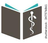drug handbook glyph icon. style ... | Shutterstock . vector #347576861