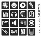 black music and sound icons  ... | Shutterstock .eps vector #347577824