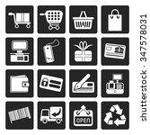 black simple online shop icons  ...   Shutterstock .eps vector #347578031