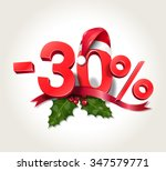 christmas sale  30  | Shutterstock .eps vector #347579771
