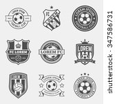 set of football  soccer  crests ... | Shutterstock .eps vector #347586731