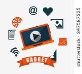 technology gadget design ... | Shutterstock .eps vector #347587325