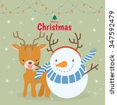 merry christmas and happy new... | Shutterstock .eps vector #347592479