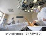 surgeon is preparing to the... | Shutterstock . vector #34759450