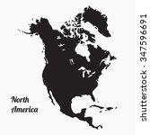 vector map north america. gray... | Shutterstock .eps vector #347596691
