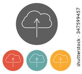 cloud upload icon | Shutterstock .eps vector #347599457