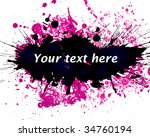 color paint splashes background.... | Shutterstock .eps vector #34760194