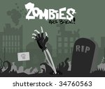 zombies are back  | Shutterstock .eps vector #34760563