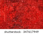abstract background. red mosaic | Shutterstock . vector #347617949
