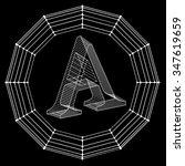vector illustration of letter . ... | Shutterstock .eps vector #347619659