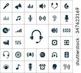 audio icons vector set | Shutterstock .eps vector #347623169